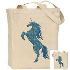 Blue Fire Unicorn Bag