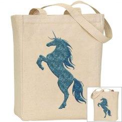 Blue Fire Unicorn Bag