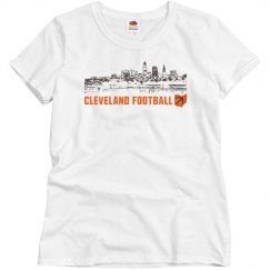 Cleveland Ohio Skyline CLE Football