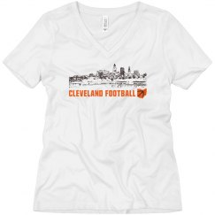 Cleveland Ohio Skyline CLE Football