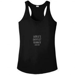 World's Okayest Runner Custom Women's Racerback Tank
