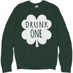 Drunk 1 Green Sweatshirt BFFs