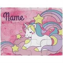 Custom Cute Unicorn Puzzle