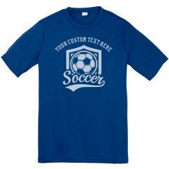 Your Custom Text Soccer Performance T-Shirt