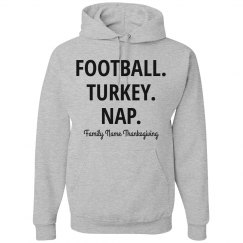 Football Turkey Nap Funny Thanksgiving Sweatshirt