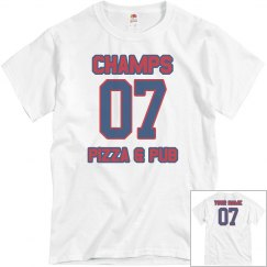 Champs 4 - Grey, Blue & Red - CUSTOMIZABLE WITH NAME