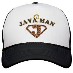 Java Man Coffee Humor Hat