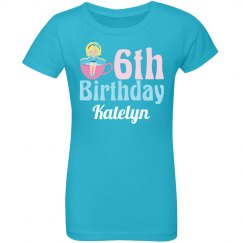 Cute 6th Birthday Tea Party Girl
