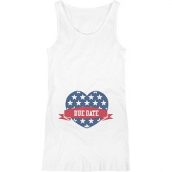 Custom Starred Heart Due Date Tank