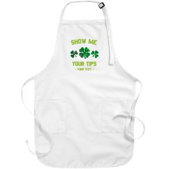 Show Me Your Tips Custom St. Patrick's Apron