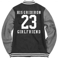 Gridiron Football Girlfriend Coat With Custom Number