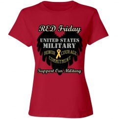 Red Friday Wing Heart