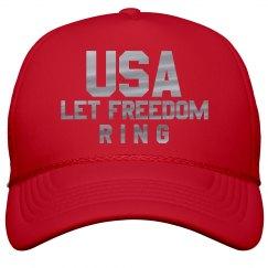 Silver Metallic USA Freedom July 4