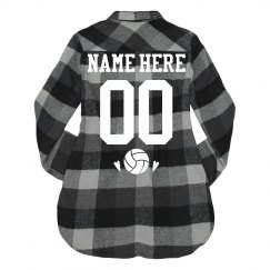 Custom Volleyball Team Flannel