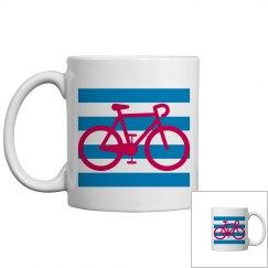Striped Bicycle Mug
