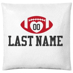 Custom Football Name & Number Pillow
