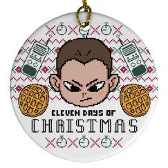 Eleven Days Of Xmas Ornament
