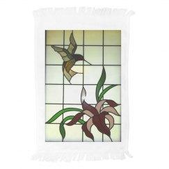 LMM #66 hummingbird and flower