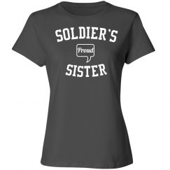 Proud soldier's sister