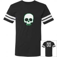 Green Neon skull Shirt Add Name and Number