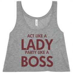 Act Like A Lady...