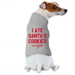 I Ate Santa's Cookies Funny Christmas Dog Raglan
