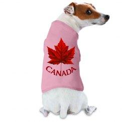 Canada Souvenir Dog Shirts Classic Maple Leaf