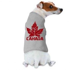 Canada Souvenir Dog Shirts Cool Retro Maple Leaf