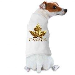 Canada Souvenir Dog Shirts Gold Medal Maple Leaf