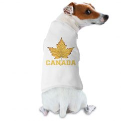 Canada Souvenir Dog Shirts Sporty Varsity Maple Leaf