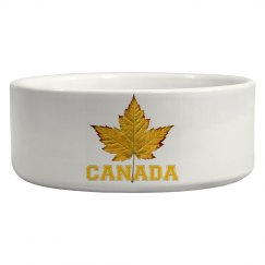Canada Souvenir Pet Bowls Sporty Varsity Canada Gifts