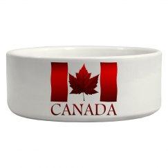 Canada Flag Souvenir Pet Bowls