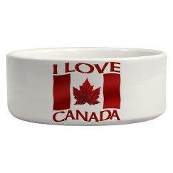 I Love Canada Pet Bowls Canada Pet Souvenirs