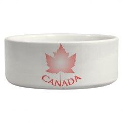 Cute Canada Pet Bowls Pink Canada Souvenir Pet Gifts