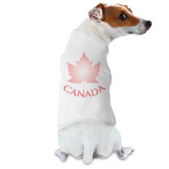 Cute Canada Pet Shirts Pink Canada Maple Leaf Pet Gifts