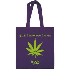420 Canvas Tote Purple