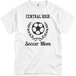 Customizable School or Team Soccer Mom