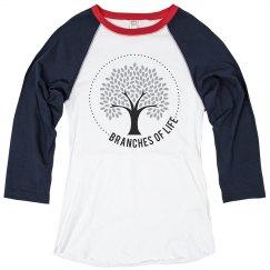 Women's 3/4 Sleeve Baseball T-Shirt
