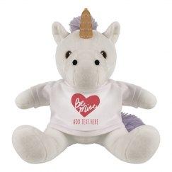 Be My Valentine Custom Unicorn Plush