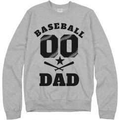Custom Number Baseball Dad