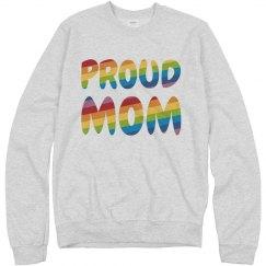 Cozy Gay Pride Proud Mom