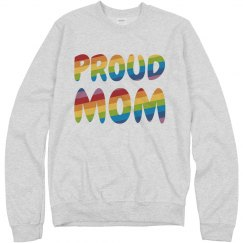 Cozy Gay Pride Proud Mom