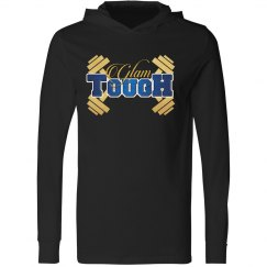 GlamTough Unisex Long Sleeve Jersey Hooded Tee
