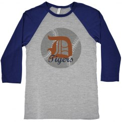 Tigers Baseball Raglan