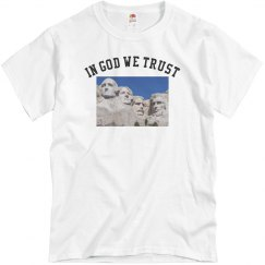 White tee w/forefathers graphic