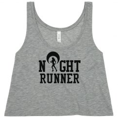 Neon Yellow Night Runner Safety Tank Top