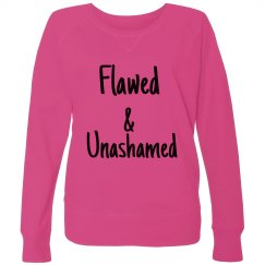 Flawed Ladies Curvy Plus Size French Terry Pullover