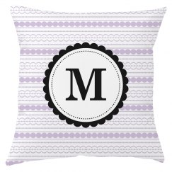 Custom Monogram Throw Pillow