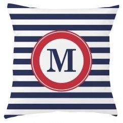 Custom Monogram Naval Decor Pillow