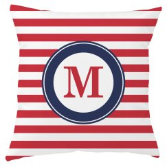 Custom Sailor Stripes Monogram